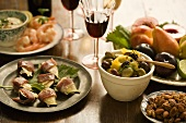Assorted Hors D'ouevres with Wine