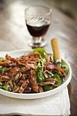 Bacon Mushroom Salad
