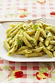 Ziti with Green Chilli, Cilantro Pesto Sauce