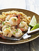 Mexican Garlic Shrimp with Dirty Rice