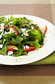 Wilted Spinach Salad with Sliced Strawberries