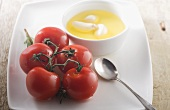 Vine Ripened Tomatoes with Garlic Infused Oil