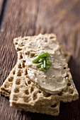 Duck Mousse on Crackers