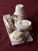 Assorted Cheese with Herbs on Marble