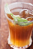 Glass of Mint Iced Tea