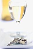 Keys with Wine Glass