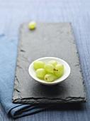 Small Dish of Green Grapes