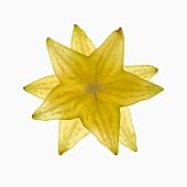 Stacked Slices of Fresh Star Fruit