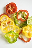 Multi Colored Bell Pepper Slices