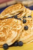 Blueberry Pancakes; Close Up
