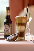 Root Beer Float with Straw