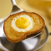 Egg in a Hat, Fried Egg in Buttered Toast