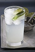 Glass of Lime Soda with Ice