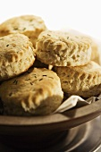 Herbed Biscuits in a Bowl