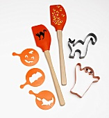 Halloween Baking Tools; Spatulas, Cookie Cutters and Stencils