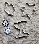 Hanukkah Cookie Cutters and Place Settings