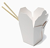 Chinese Food Take Out Boxes; Chopsticks
