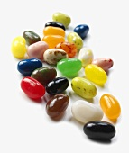 Jelly Beans on White Background