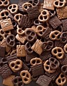 Milk and Dark Chocolate Covered Pretzels and Grapham Crackers
