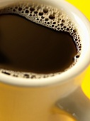 A Cup of Coffee in a White Mug, Close Up