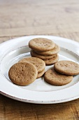Plate of Ginger Snaps
