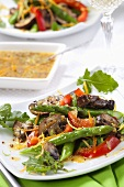 Asparagus, Mushroom and Bell Pepper Salad with Citrus Dressing