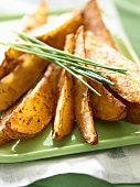 Oven Baked Potato Wedges with Chives
