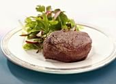 Filet Mignon with Salad