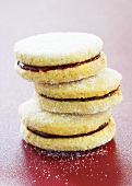 Stacked Raspberry Almond Cookies