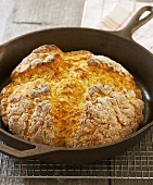 Soda Bread in Cast Iron Skillet