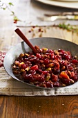 Chunky Cranberry Pistachio Sauce in Serving Bowl