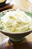 Serving Bowl of Mashed Potatoes