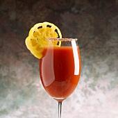 Tomato Juice with Sugared Rim