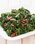 Sauteed Kale in a Serving Bowl