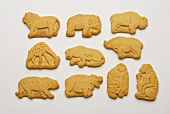 Various Animal Crackers on White