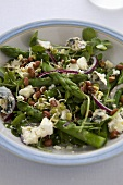 Asparagus,Goat Cheese and Sprout Salad