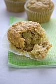 Apple and Macadamia Nut Muffins; One Broked