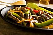 Steak Fajita in Bratpfanne (Mexiko)