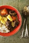 Bowl of Tibetan Beef and Potato Stew