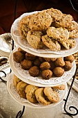 Cookies and Mini Muffins on Tiered Trays