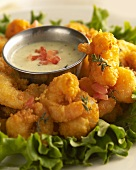 Spicy Buffalo Shrimp with Ranch Dressing