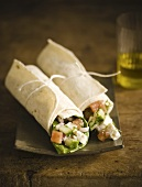 Cheese and Avocado Rolls in Lavash Bread