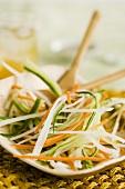 Julienne Vegetables on a Dish