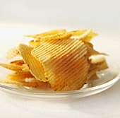 Ripple Potato Chips on a Plate