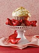 Banana Cupcake with Meringue Topping