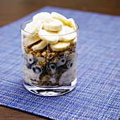 Yogurt Cup with Granola, Blueberries and Banana