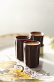 Chocolate Cups Filled with Liqueur