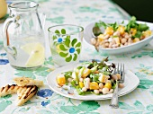 Vegetarian Bean and Squash Salad on a Plate on Table