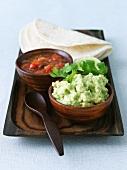 Guacamole, Salsa and Tortillas