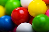 Colorful Gumballs; Close Up